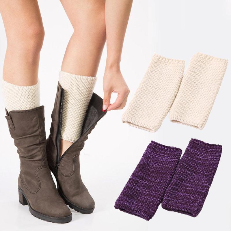 Sports Socks 1 Pair Knitted Boot Cuffs Toppers Short Leg Warmer Latin Dance Stepping Yoga Wool Set Ballet Sock