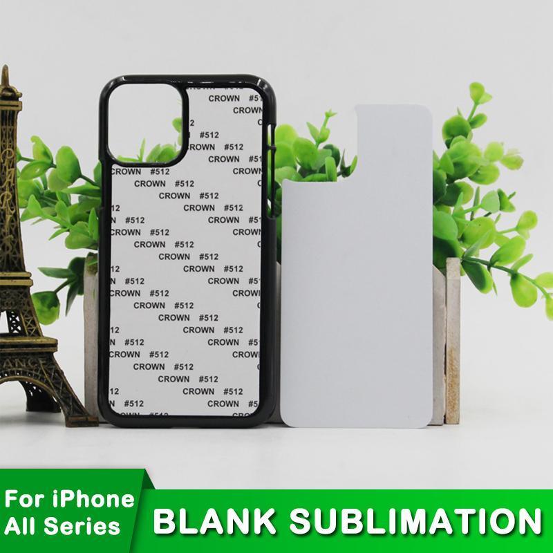 Caja en blanco de sublimación del iPhone para mini PC 12 SE XS MAX 7 NO 8 PLUS XR 11 Tapa suave con inserción de aluminio WLBNW