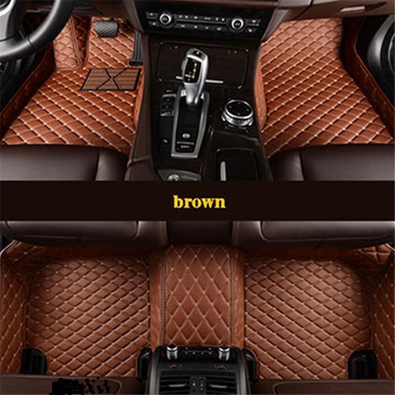 leather car floor mats for Citroen c4 c5 c2 c3 c6 drain C-Quatre Triomphe