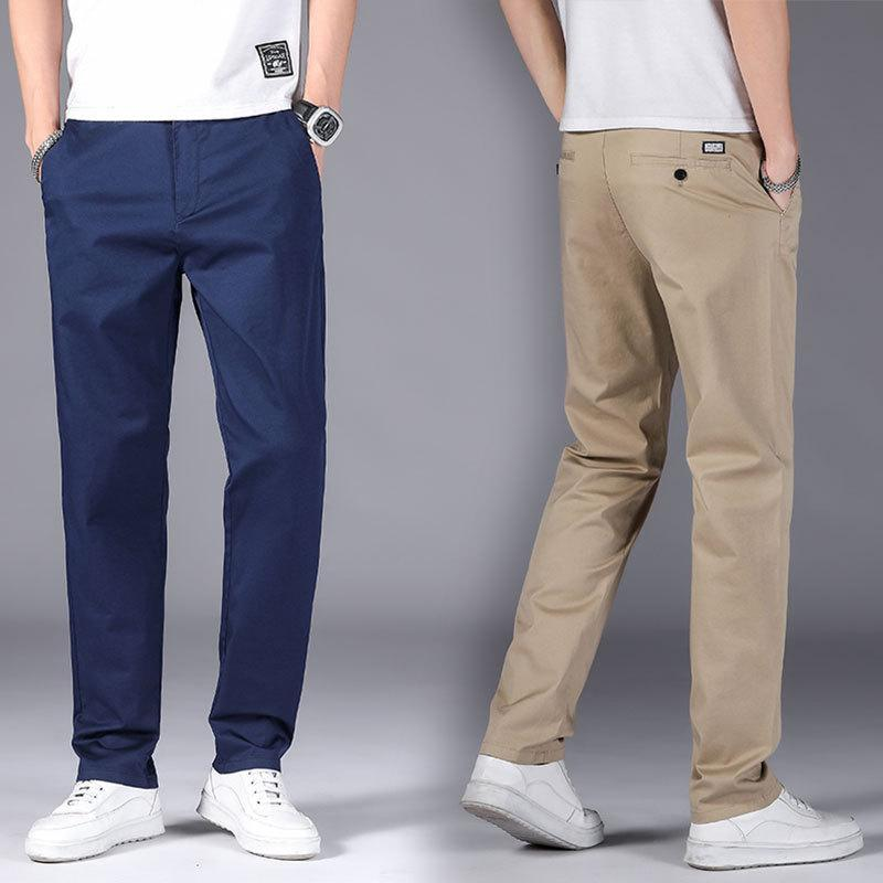 Frühling Sommer Hosen Männer Mode Business Stretch Chinos Hosen Lässig Black Cotton Male Pentalon Homme Herren 28-42 Männer