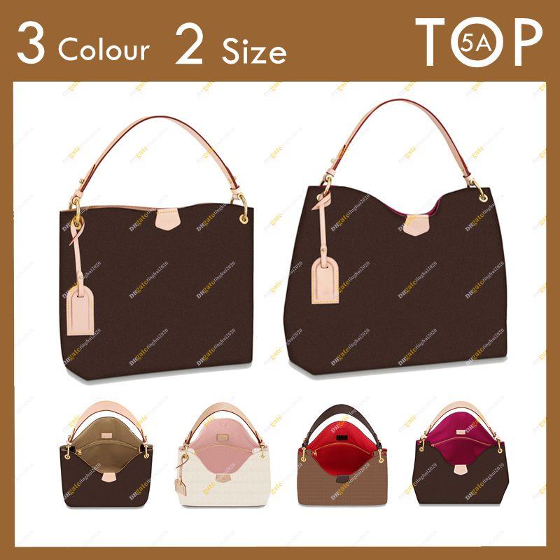 السيدات مصمم أزياء أعلى 5a رشيقة حقيبة يد n44044 M43701 M43704 زهرة و الشيكات لوحة كبيرة حقيبة الكتف حمل 2 حجم أكياس هدية الغبار المجانية في المخزون