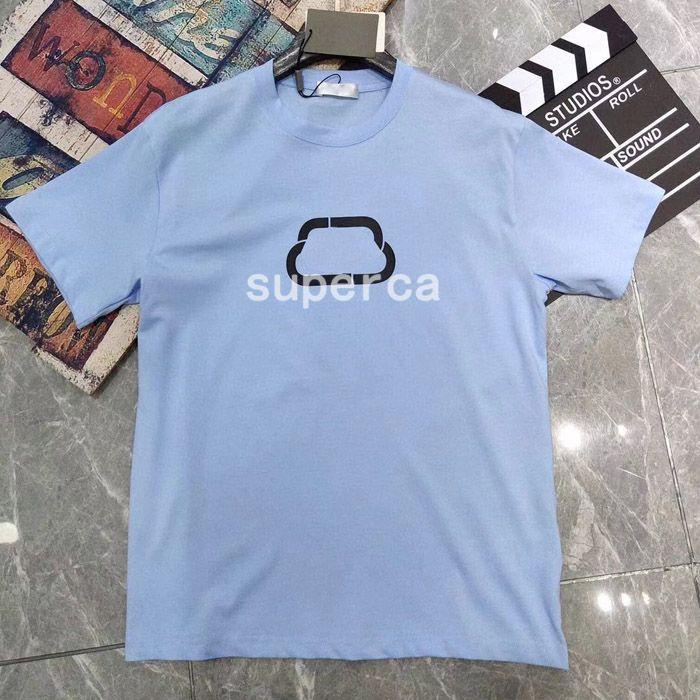 21SS İyi Qaulity Yaz Erkek Tasarımcılar Tees 100% Pamuk T Shirt Moda Rahat Çiftler Kısa Kollu Tee Rahat Erkekler Kadınlar T-shirt BL5487