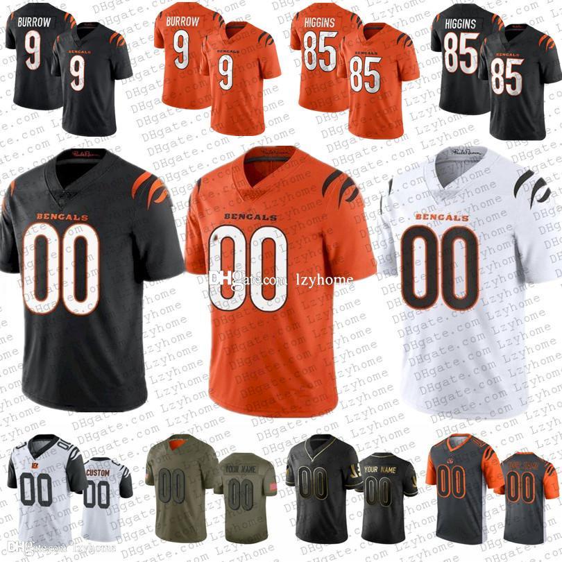 9 Joe Burrow 7 Jamarr Chase 남성 여성 청소년 2021 New Custom Football Jersey 58 Penei Sewell 85 Tee Higgins 30 Jessie Bates III 25 Giovani Cincinnati벵골남자 이름