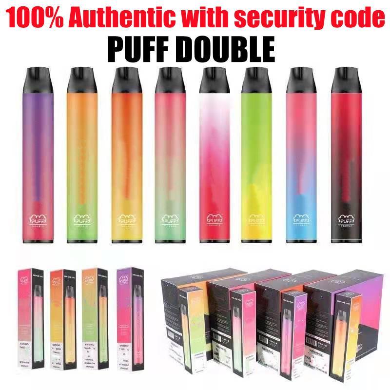 100% auténticos vapes cigarrillos dobles 2 en 1 vape de vape desechable 2000puffs 900mAh batería 6ml precargada 2in1 vainas Vaporizador Vapor de vapor de vapor de vapor