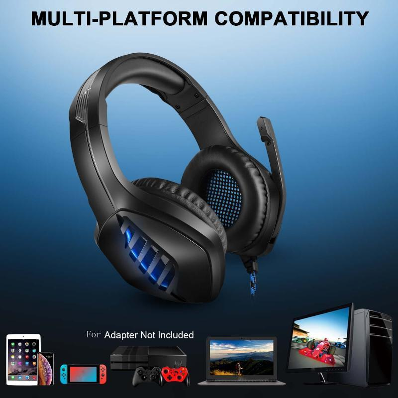 Fast Deliver J1 Deep Bass Wired Gaming Headset Professional Computer Game Player Glowing Auriculares Para Juegos Headphones & Earphones