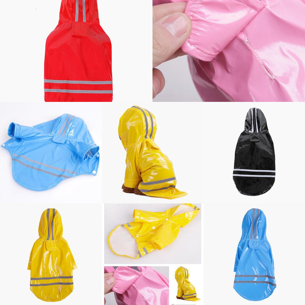 dog clothes pet dog clothes Outdoor Puppy Pet Rain Coat S-XL Waterproof Jacket hooded raincoat PU reflective for Dogs Cats apparel 5 AVXB