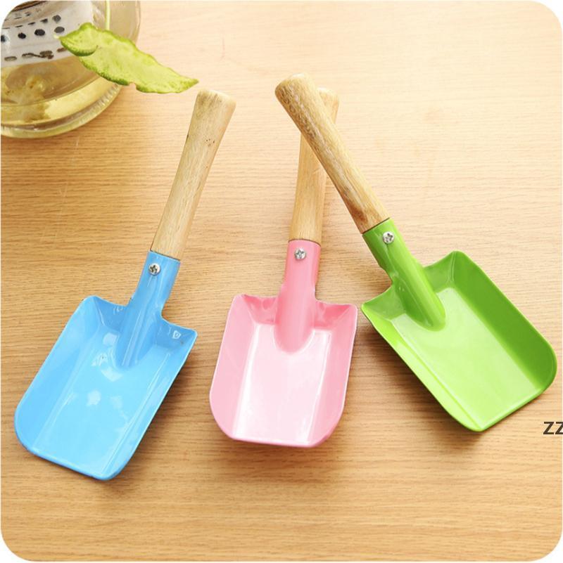 Metal Small Shovel Garden Spade Gardening Shovels Party Favors Kids Spade Sharp Integrated Digging Garden Tools HWF10684
