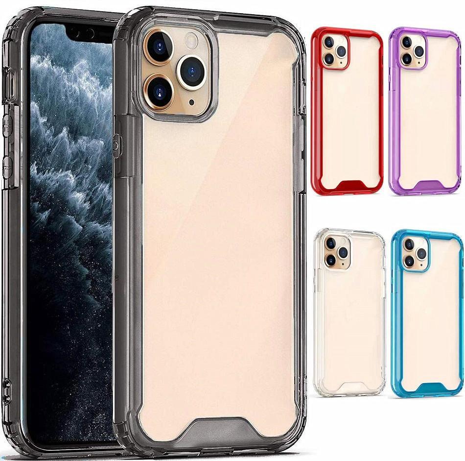 Yumuşak TPU Şeffaf Temizle Telefon Kılıfı Koruyun Kapak Darbeye Dayanıklı Yumuşak Kılıflar iphone 6 7 8 11 12 x XR XS Pro Max Samsung S10 S20