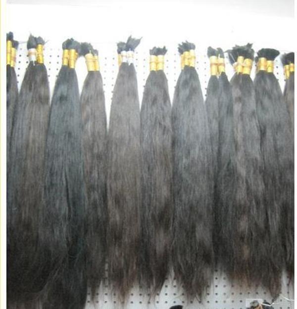 Groothandel 100g / pack 300g / partij rauw recht haar, 100% onbewerkte maagdelijke menselijke haarbollen cuticle uitgelijnd Braziliaans haar voor vlechten