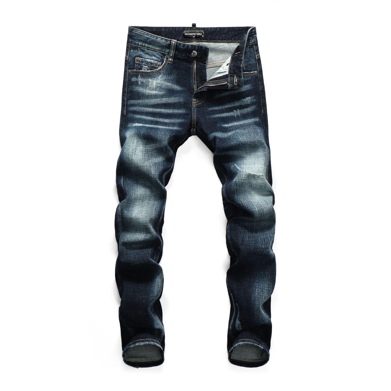 DSQ Phantom Schildkröte Perfecto Waschen Cooler Kerl Jeans Klassische Mode Mann Hip Hop Rock Moto Herren Casual Design Ripped Beunruhigte Skinny Denim Biker DSQ Jean 10829