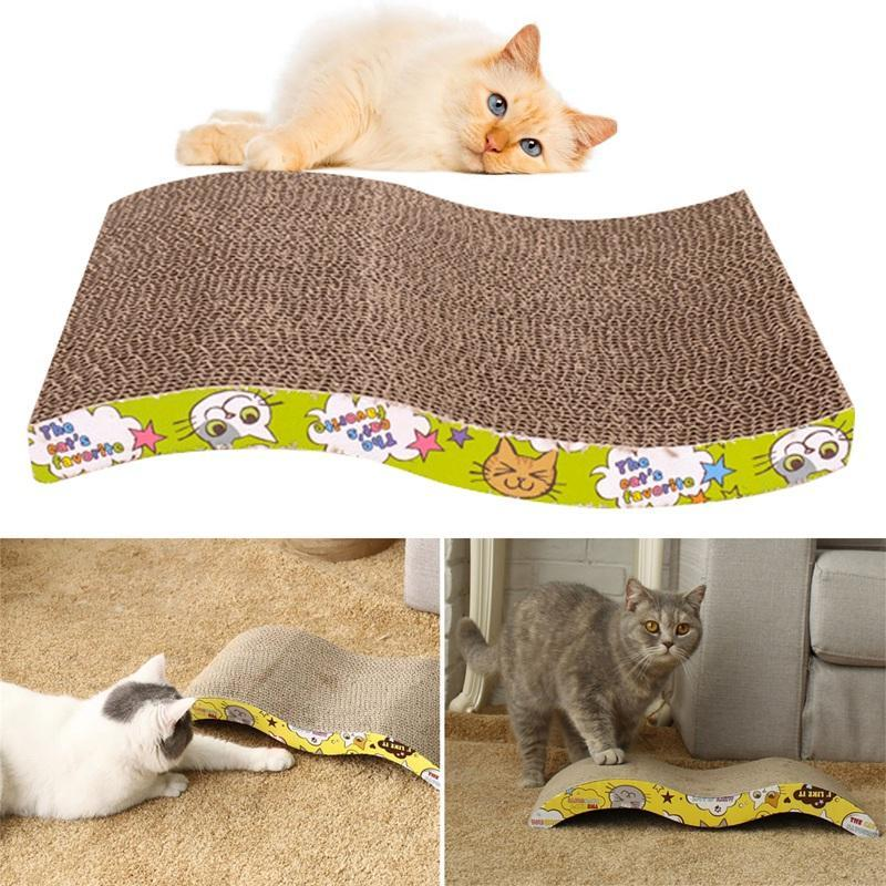 Pet gatinho gatinho scratch scratcher pad apreende captura de captura tapete tapete catnip bed s forma brinquedos