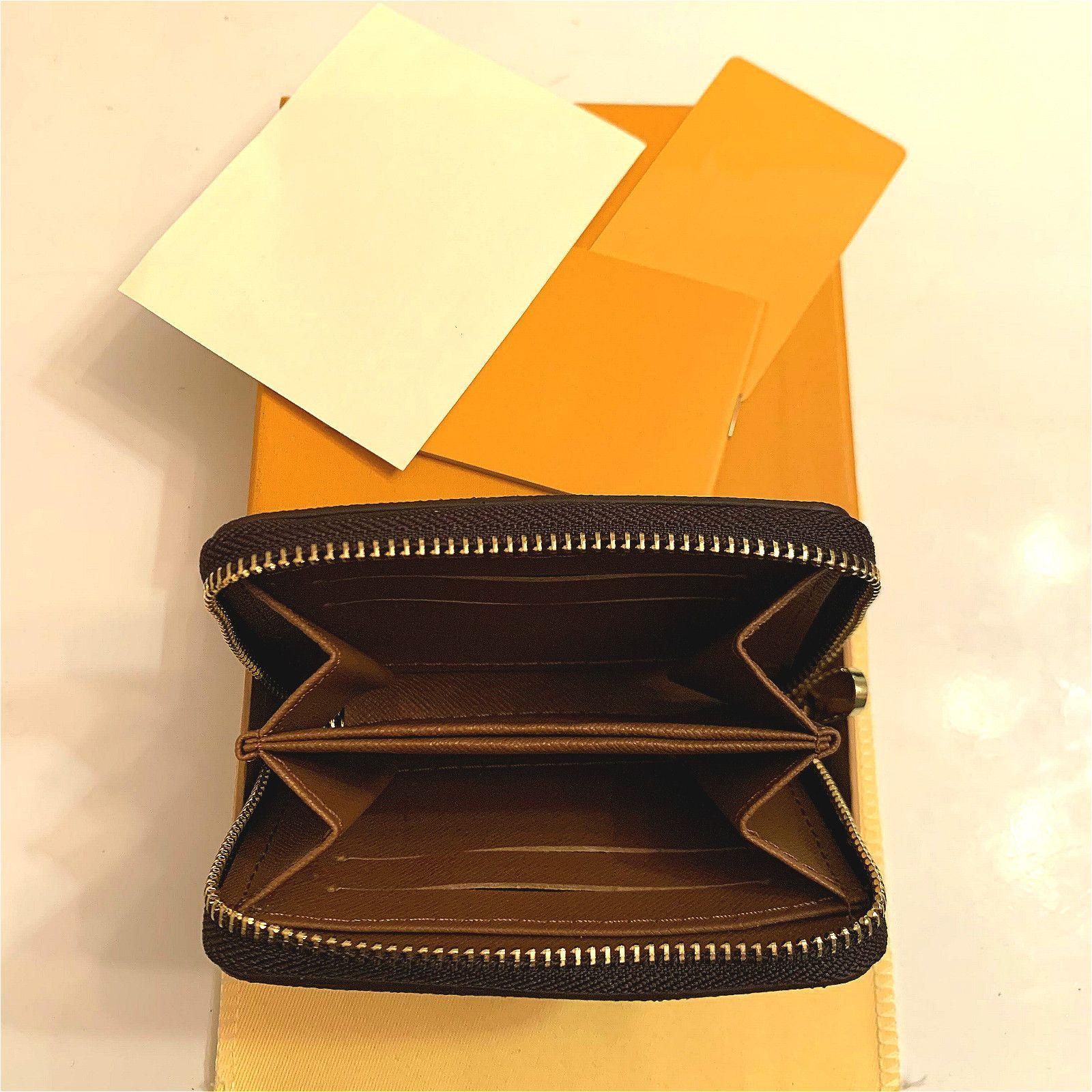 M42616 Designer di lusso Zippy Short Portafoglio Zipper Zipper Womens Brown Portafoglio Mono Gram Canvers Leather Check Plaid Portafoglio Portafoglio Titolare Long Busines