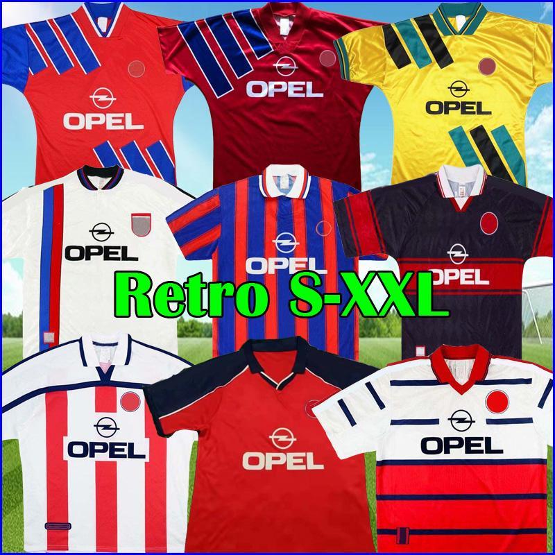 91 93 95 97 98 99 Bayern Retro Soccer Jersey 2000 2001 Matthaus Munich Elber Scholl Top Football Kit Shirt Effenberg Klinsmann خمر الزي الكلاسيكي