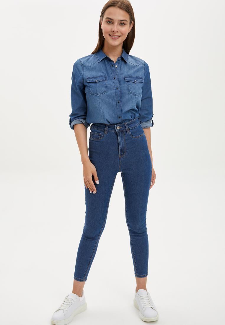 Defacto Automne femme Denim Anna Taille haute Jeans Streetwear Pantalons Esthétiques Coton Elastic Fashion Nouvelle Saison-L0598AZ20AU