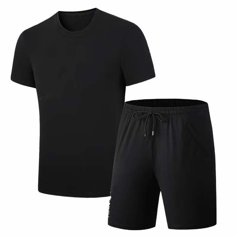 Erkek Yaz Eşofman Erkekler Tee Gömlek + Şort İki Parçalı Takım Elbise Spor Set Moda Kısa Setleri P0068