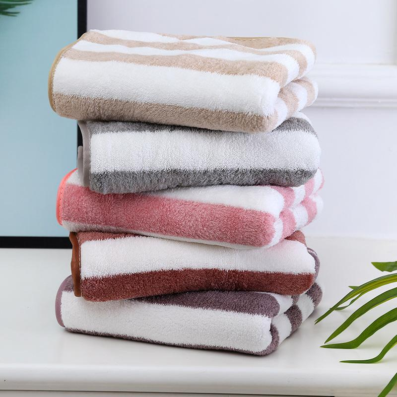 35 * 75 Coral Cashmere Cational Stripe Towel