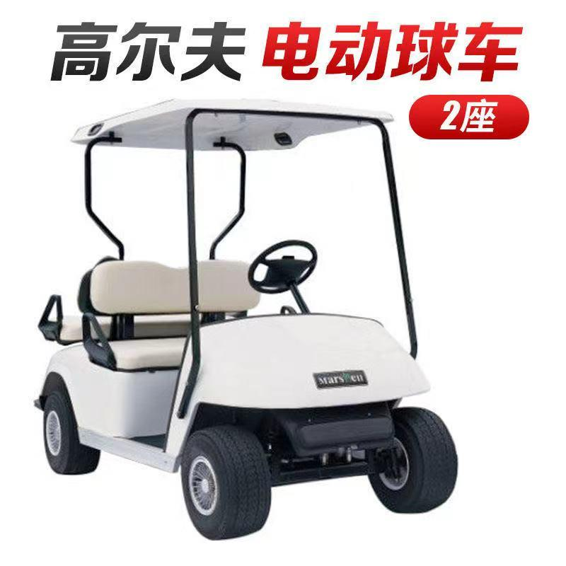 Golf driving range of electric car 2 battery sightseeing silver new high-quality goods