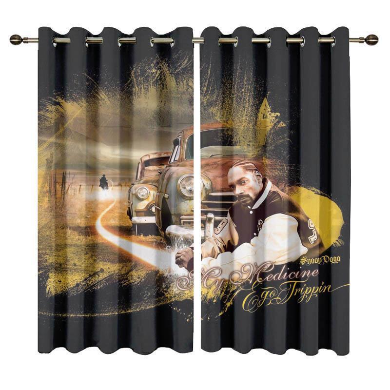 Vorhangdrapes Custom Snoop Doggy Printed Blackout Vorhänge für Schlafzimmerfenster Wohnzimmer Hohe Schattierungsrate
