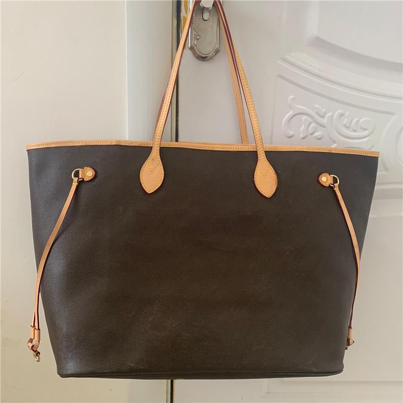 sac sacs de sacs célèbres femmes classiques cuir véritable cuir sac à main à main grande capacité d'embrayage d'épaules d'épaules MS.l 40cm
