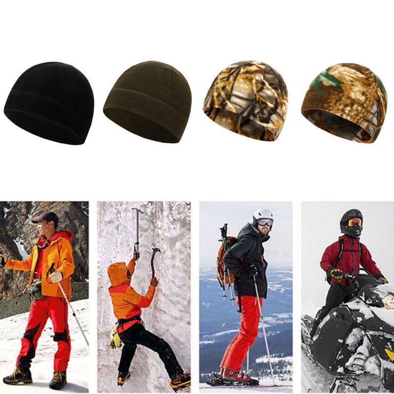 남자 야외 겨울 따뜻한 양털 모자 벨벳 두꺼운 후드 모자 windproof 스포츠 사이클링 캡 1 모자