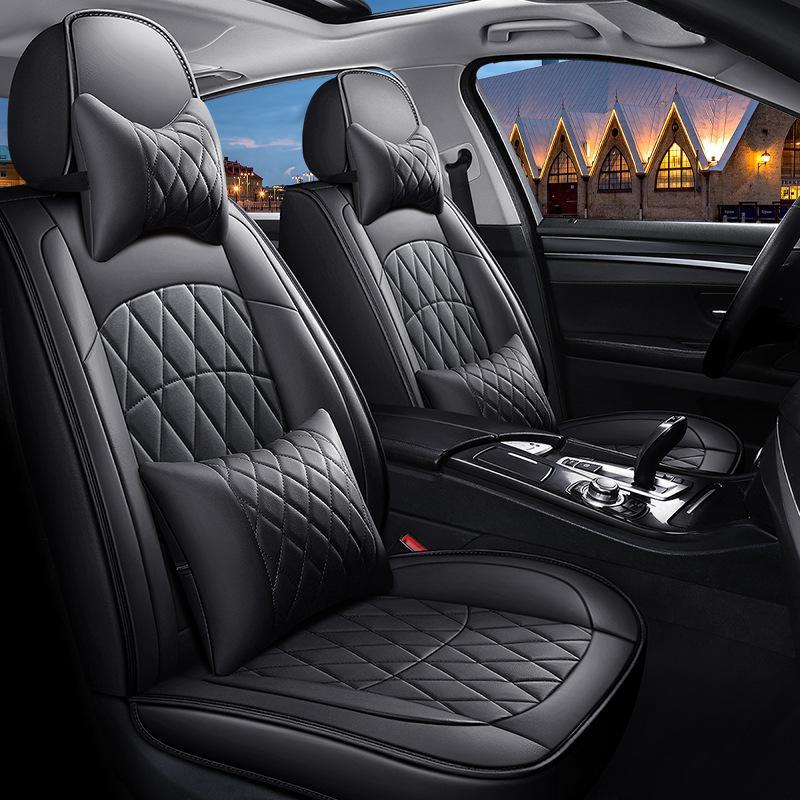 Hohe qualität special leder autositzbezüge für jaguar alle modelle xf xe xj f-pace f firma workfaux leder automobilfahrzeug kissen abdeckung universal