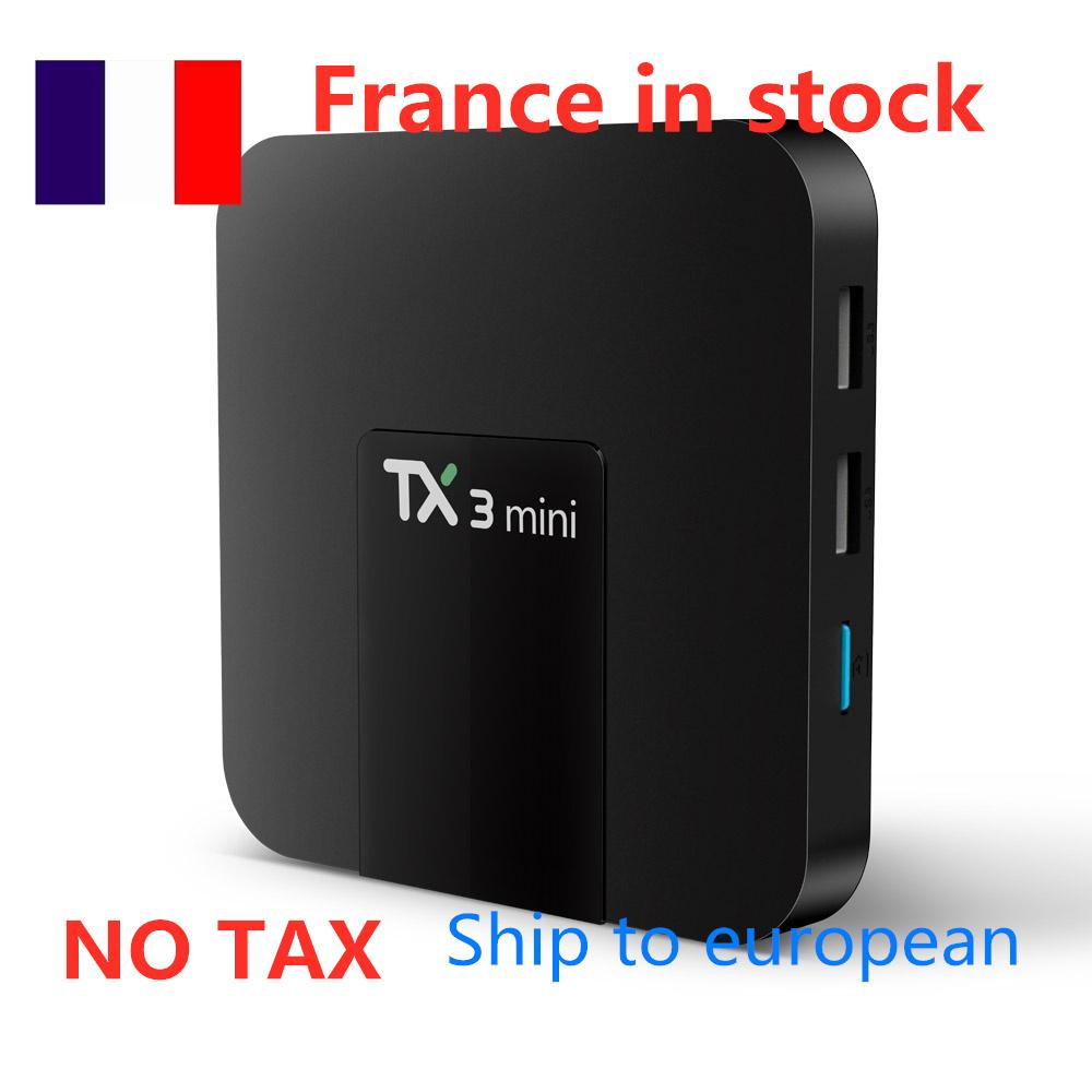 Ship from france TX3 Mini A TV BOX Android 8.1 2GB Ram 16GB Rom Amlogic S905W 4K H.265