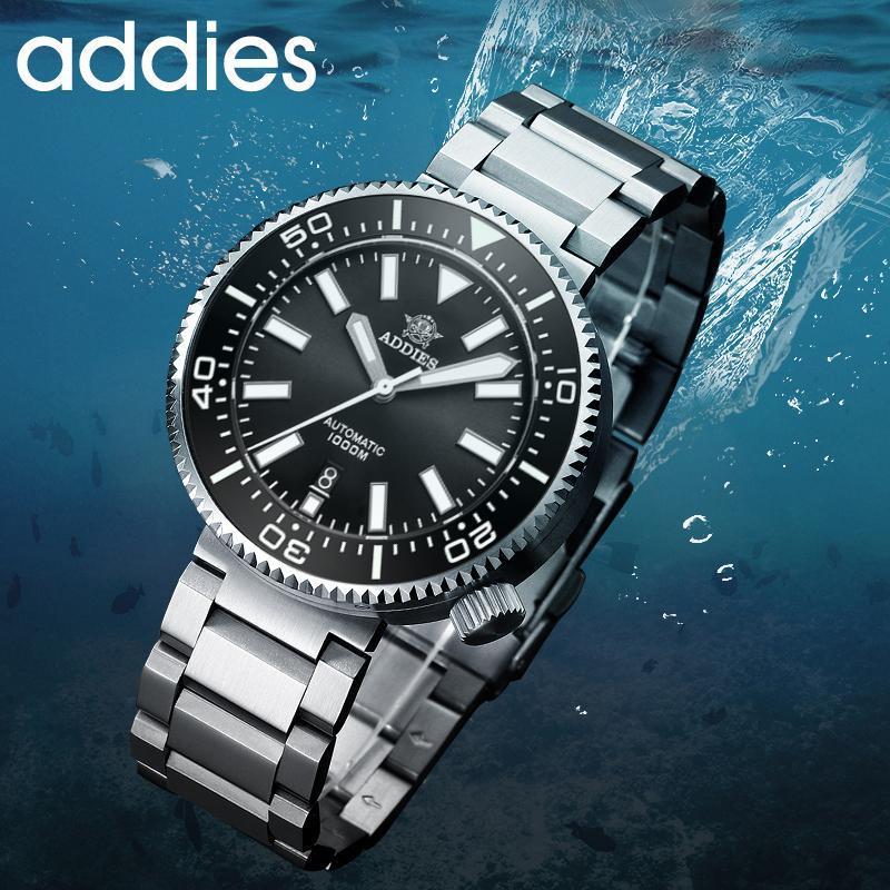 Wristwatches Addiesdive Automatic Watches 1000m Waterproof Mechanical Wristwatch BGW9 Luminous Sapphire Crystal Ceramic Bezel Diver Watch Me