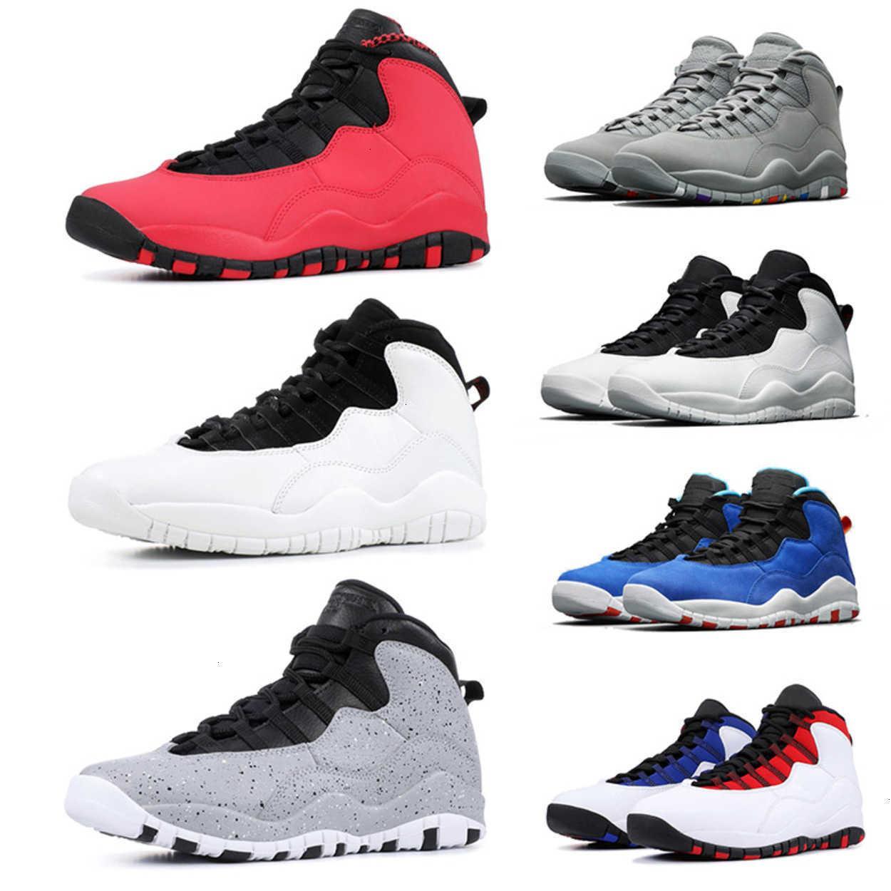10s мужские баскетбольные туфли 10 Orlando Tinker Racer Blue Cement WestBrook Я Back Black White Trainer NakeskinИорданияRetros кроссовка