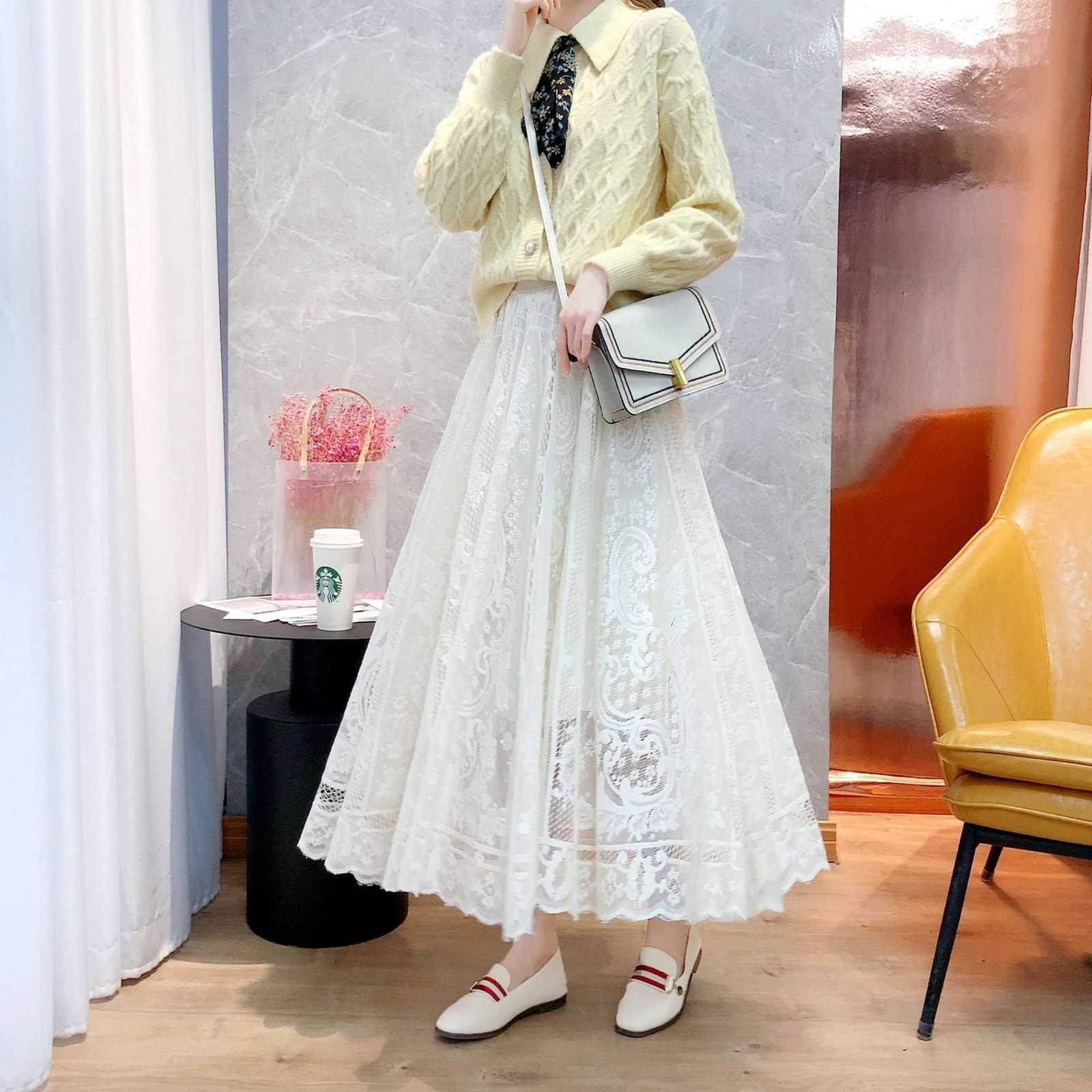 Мода высокая талия сетчатая юбка для женщин 2021 весна 5isz