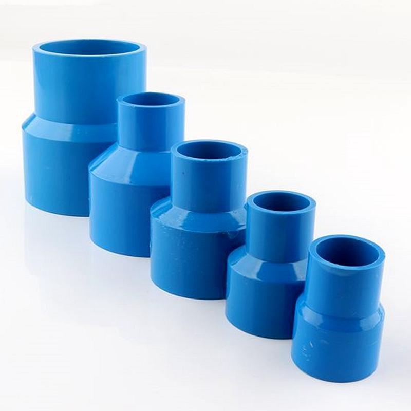 5-30pcs 20/25 / 32/40 / 50mm Blue PVC Conectores reductores rectos de la tubería de agua Connector de irrigación del jardín Aquarium Adapte Equipos de riego