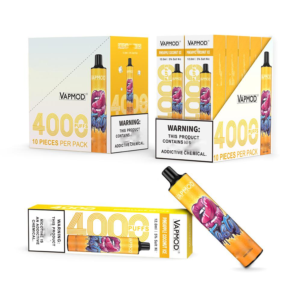 Original VAPMOD Disposable Vape 4000Puffs E-Cigarettes 650mAh Battery 12ml Pre-filled Device Pods Empty Vapor Pod VMOD VS Puff bar plus bang xxl flex