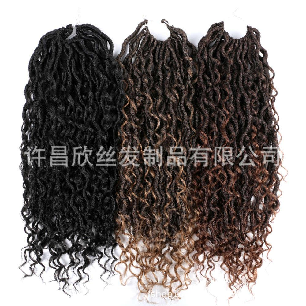Faux Goddess River Locs Moda Feminina Wig Crochet Hair