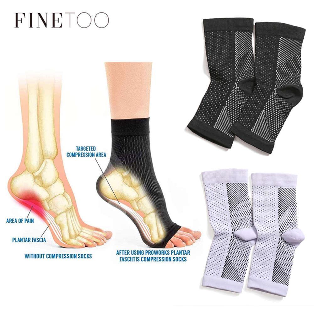 Finetoo à manches de pied respirables chaussettes hommes 1 paire pied ange angane anti-fatigue extérieur femmes chaussettes chaussettes chaussettes chaussette de compression sport s-xl