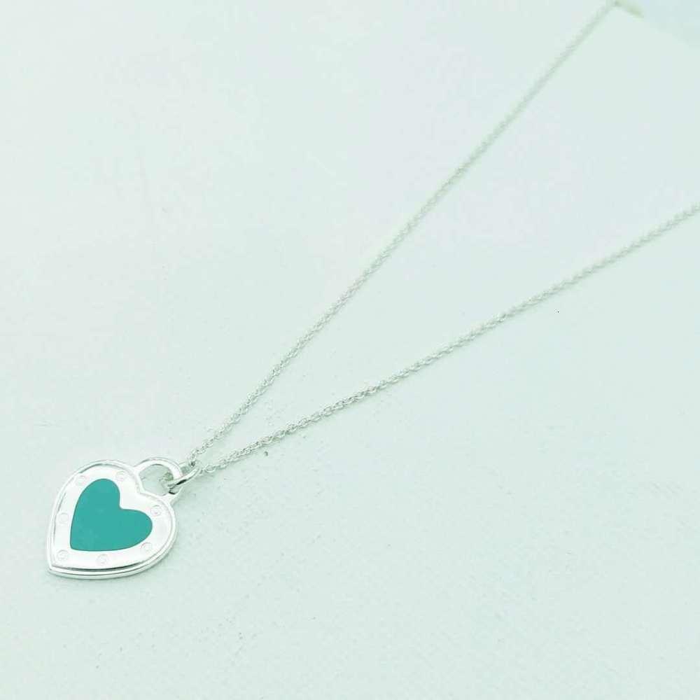 Pendantt Family S925 стерлингового серебра эмаль многоцветный влюбленный подвесной свитер цепи женское ожерелье