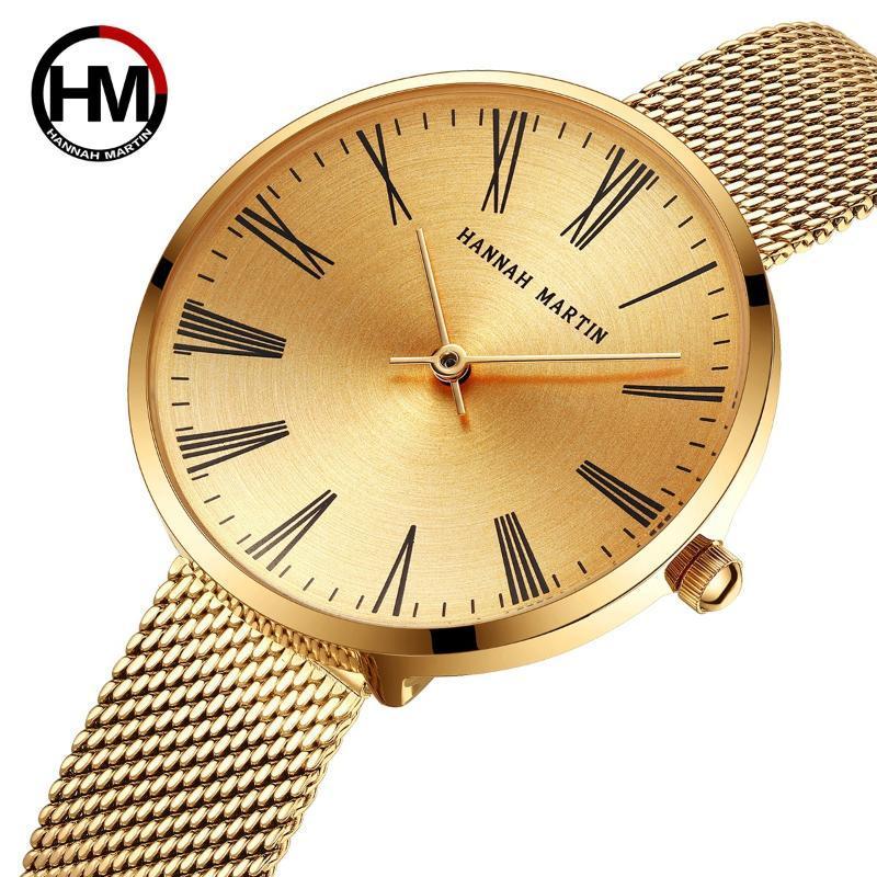 Armbanduhren Luxus Gold Damen Uhren Frauen Uhr Edelstahl Frauen Armband Relogio Feminino Montre Femme 2021 A3825