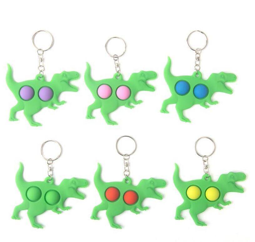 Push Bubble Keychain Bambini Novel Fidget Keychains Dimple Toy Toy Giocattoli Key Holder Rings Borsa Pendants Decompressione giocattolo