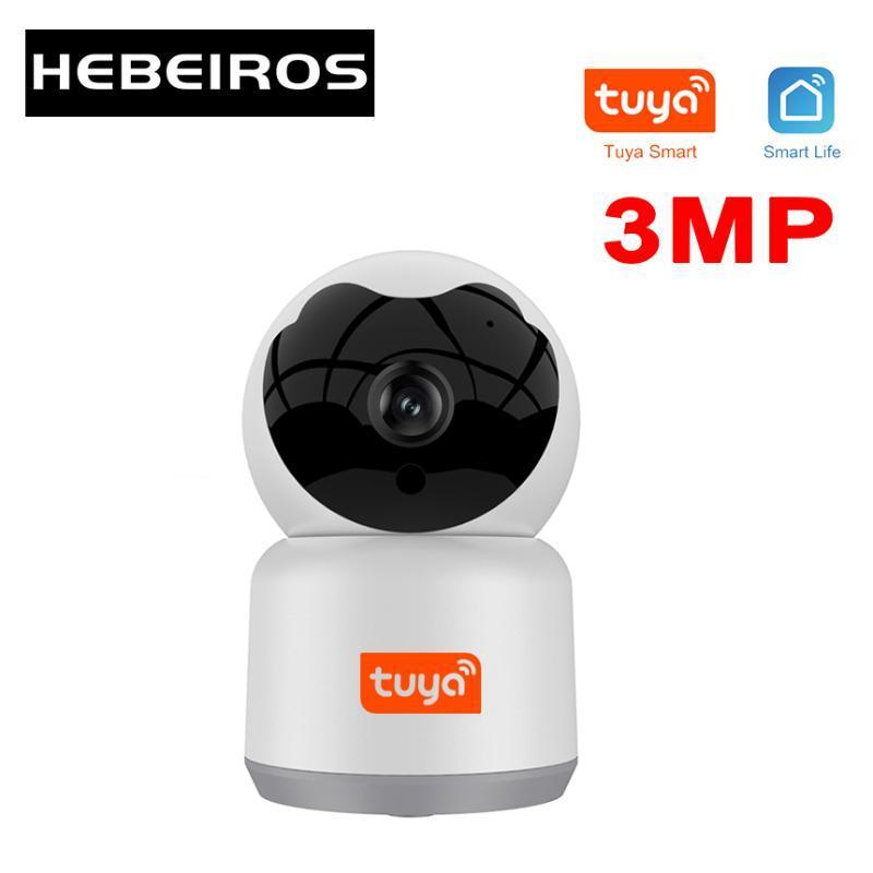 HebeIROS 3MP TUYA SMART AUTO TRACKEING AI CAMIONE HD 1080P Cloud inalámbrico WiFi Vigilancia de seguridad CCTV CAMERAS IP