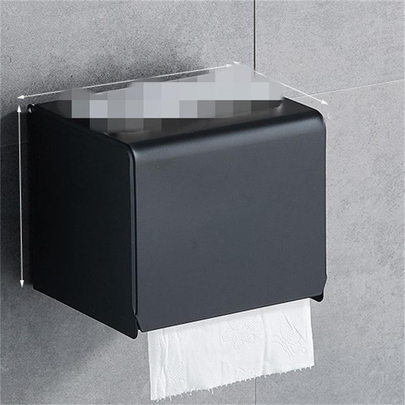 Black Paper Tissue Box Bagno Carta Rotolo Supporto a parete Supporto per carta igienica Back Accessori Bagno Accessori per il titolare del tessuto 376 R2