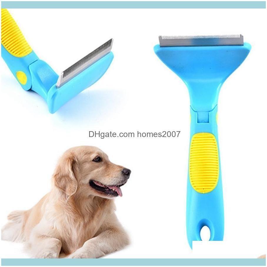 Supplies Home & Gardenadjustable Dog Grooming Stainless Steel Practical Open Knot Multifunctional Plastic Anti-Slip Handle Pet Comb Bh0629 T