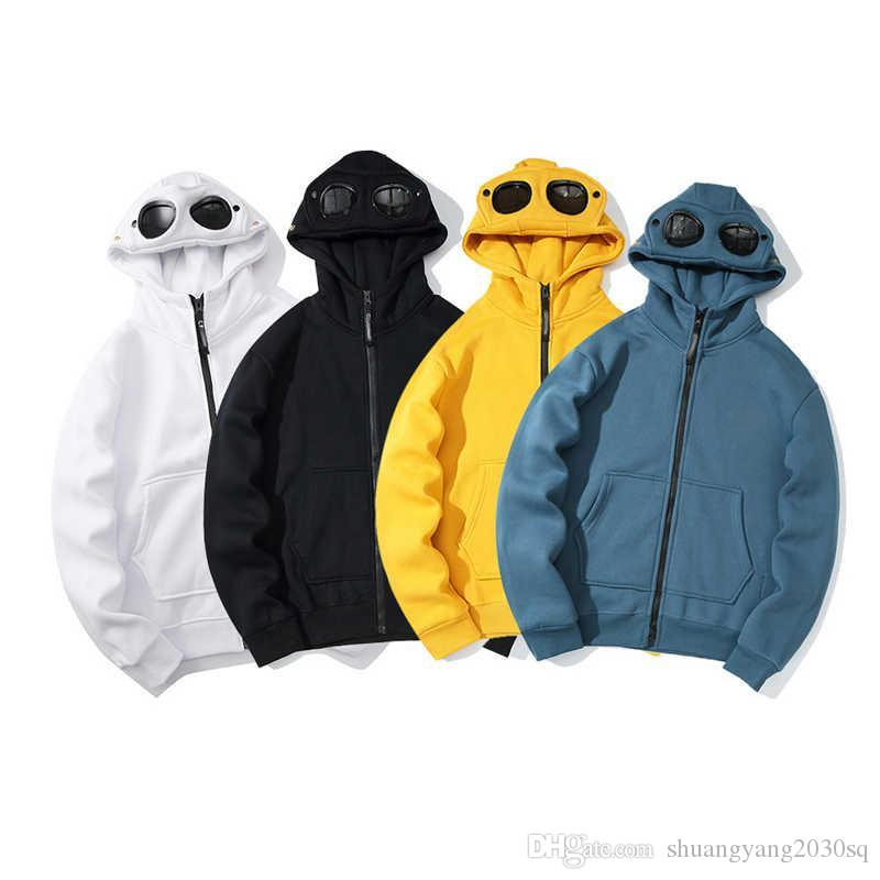 Mens Designer Felpa con cappuccio Primavera Autunno nuove maniche lunghe maglione con cappuccio e occhiali cardigan maglioni pullover