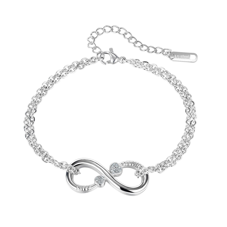 شظية ربط سلسلة سحر أساور ماركة تصميم الأزياء بسيطة الشكل ثمانية مطلي مجوهرات قابل للتعديل فتح الفتيات هدايا عيد