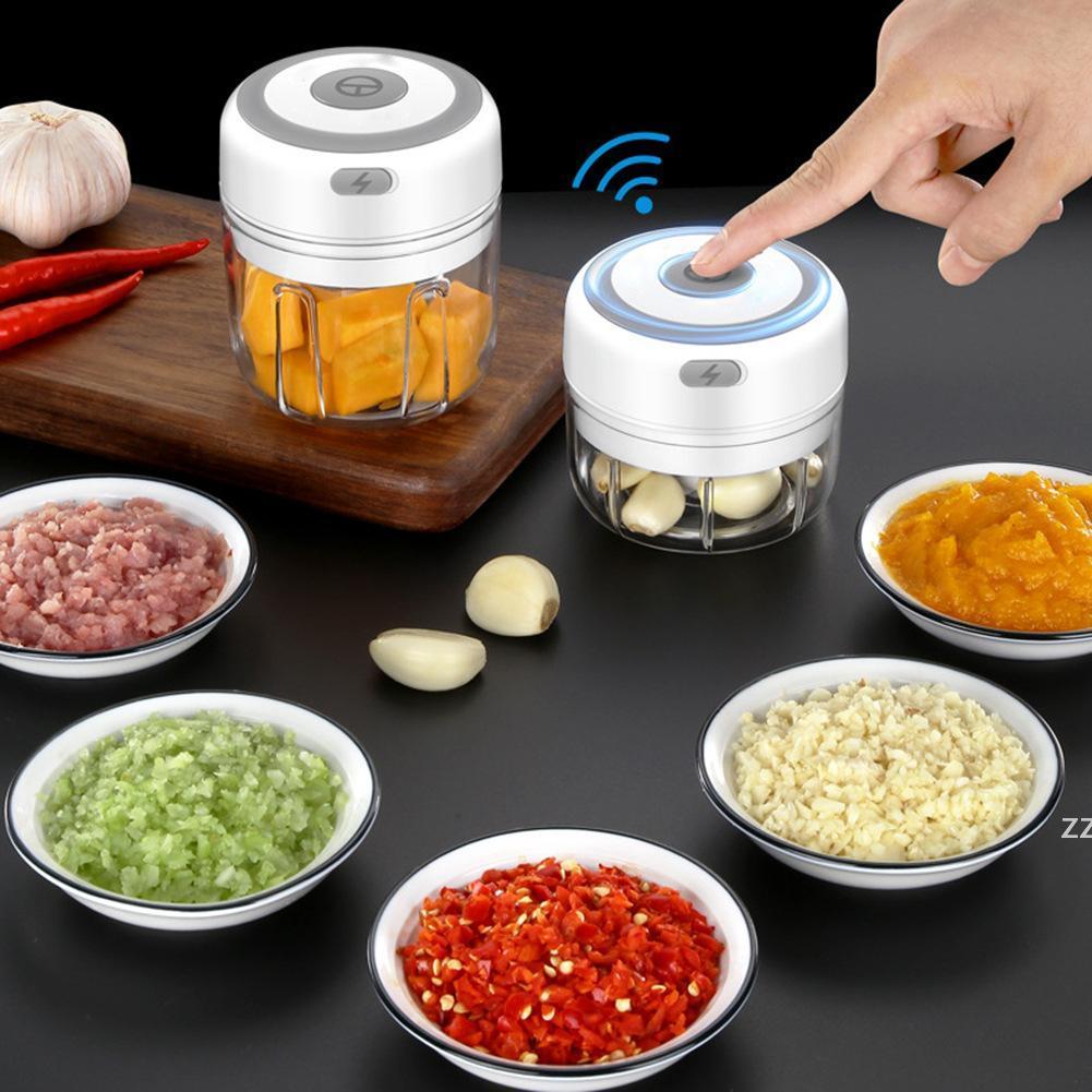주방 도구 전기 마늘 Masher 튼튼한 내구성 미니 크러셔 헬기 USB 충전 짓 눌린 생강 과일 고기 아기 음식 HWB8333
