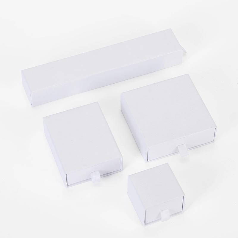 Klasik Basit Beyaz Kağıt Kutu Ambalaj Küpe Için Jewlery Hediye Karton Kutuları DIY Takı Ekran Depolama Ambalaj Wrap