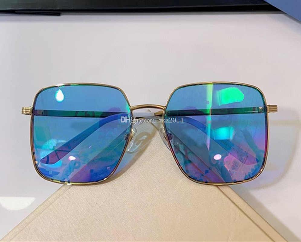فاخر تصميم النساء النظارات الشمسية موجزة للجنسين نظارات كبيرة نظارات uv400 المعادن fullrim 57-19-145 مرآة الشمس نظارات fullupod حالة التعبئة
