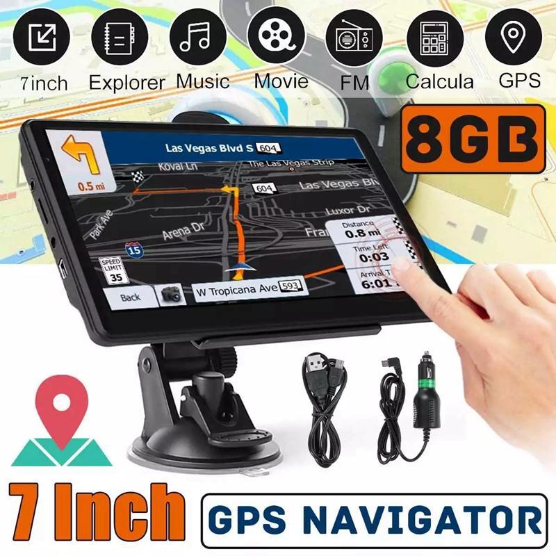 HD 7 Zoll Auto Bluetooth GPS Navigation Wireless Avin Truck Navigator 800MHz 8 GB + RAM256MB FM Sender MP4 MP3 3D TTS Karten