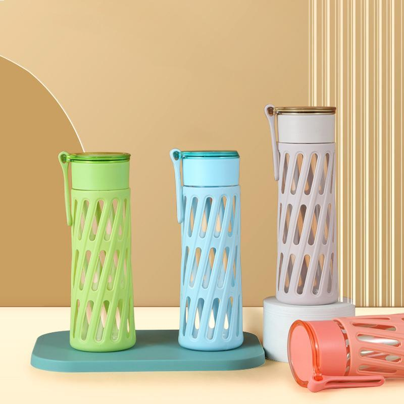 Wine Glasses Sports Drink Bottle Portable Water Glass Cup Real Borosilicate Flter Tea Infuser Outdoor Travel Mug
