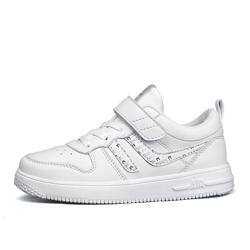 Air Flat Schuhe USA Größe 4 für Jungen Mädchen Weißer Sneaker
