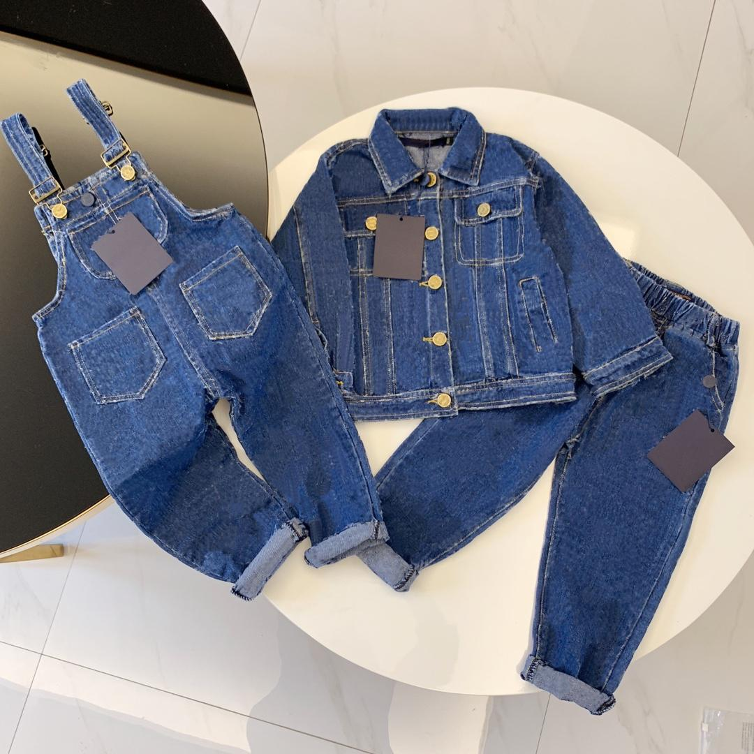 Kids Designer Clothing Sets Girl Boy Denim Jackets Outwear Top Jeans Coat Fashion Classic Overalls Shorts Baby Trousers Jacket Child Suits