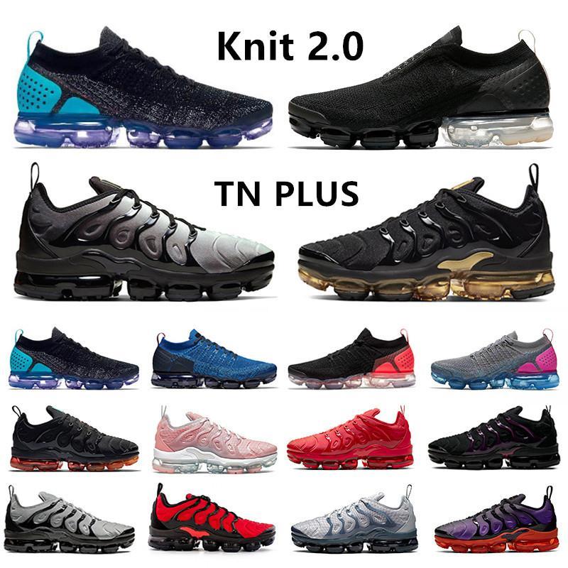 حذاء رياضي Vapormax flyknit vapor max 2.0 Moc للرجال من جامعة أوريو ذهبي شراع أسود أبيض تي إن بلس أحمر فولت أحذية رياضية للرجال والنساء 36-45