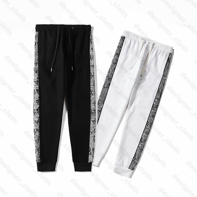 21s Moda Mens mulheres designers calças marcas esportes calça lado listra sweetpants sweetpants roupas casuais streetwear calças roupas